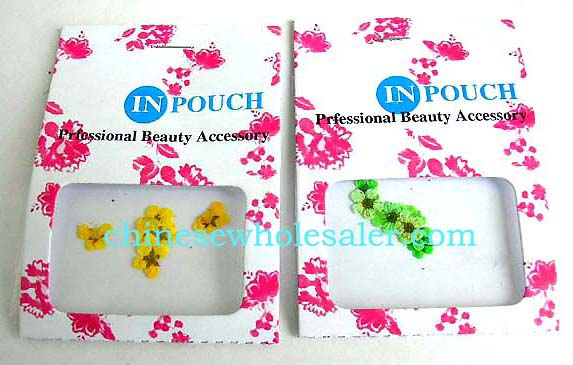 Wholesale nail art accessory manicaure distributor supply Dried Real Flower nail art supply in assorted color  .