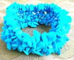 Buy online wholesale gemstone jewelry from import agent. Fashion wide stretchy bracelet with multi baby blue crystal chips inlaid