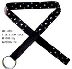 China direct wholesale company distributing blackimitation leather belt with cool silver studs patterned throughout.