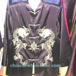 chinese-silk-men-apparel-blouse, hand made embroidered shirt for man, china wholesale