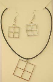 Bracelet and necklace set jewelry