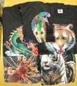 Assorted animal's print black T-shirt,