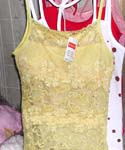 Assorted lace tank top with silk