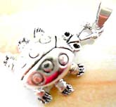 Legs and head movable turtle  sterling silver pendant