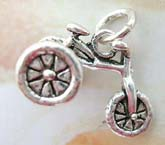 925. sterling silver pendant in handcrafted traditional 3-wheel bicycle design