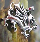 Flying dragon 925. sterling silver pendant