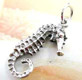 Animal life sea horse pendant made of 925. sterling silver
