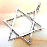 The peace symbol, double triangle 925. sterling silver pendant