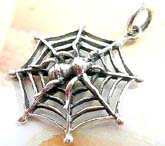 Spider web pendant made of 925. sterling silver