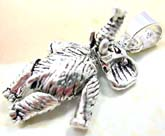 925. sterling silver pendant in elephant  with movable head, arms and legs